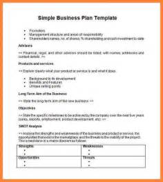 Easy Business Plan Template Free 12 Easy Business Plan Sample Bussines Proposal 2017