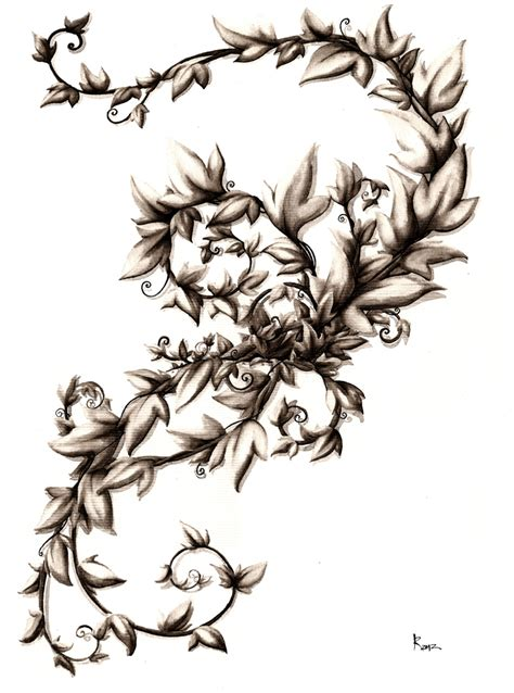rose and thorn vine tattoos vine by taiyo85 on deviantart