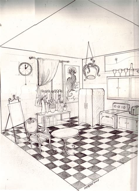 2 Point Perspective Interior Room by Two Point Perspective Room By Twistedexit On Deviantart