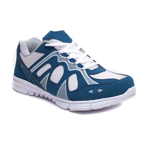hm shoes hm evotek mens sports shoes bold white blue in india