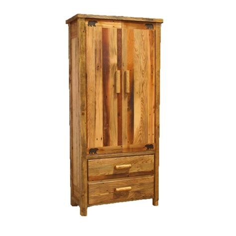 unfinished armoires rustic unfinished handpeeled rustic armoire reclaimed