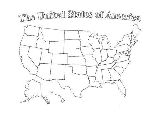 printable blank us map with state outlines clipart best