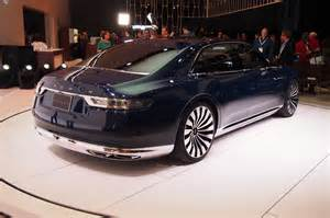 new lincoln concept car new york 2015 lincoln continental concept live photos