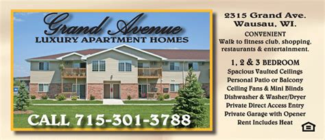 grand avenue apartments for rent 1 2 and 3 bedroom