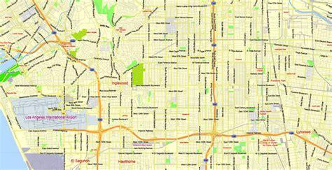 printable map of la area los angeles metro area printable map california us
