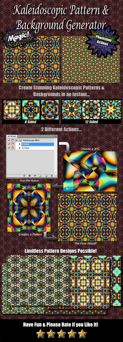 pattern generator photoshop action kaleidoscope pattern background generator by jipito