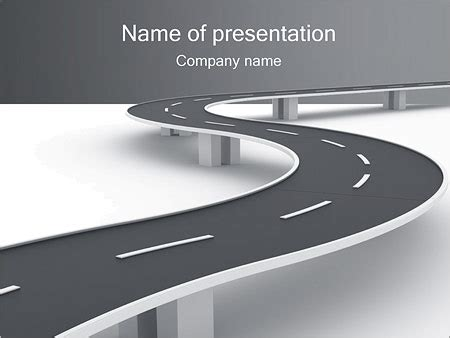 powerpoint road template winding road powerpoint template backgrounds id