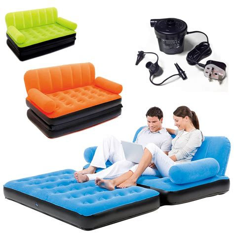 double sofa air bed inflatable coach blow  mattress