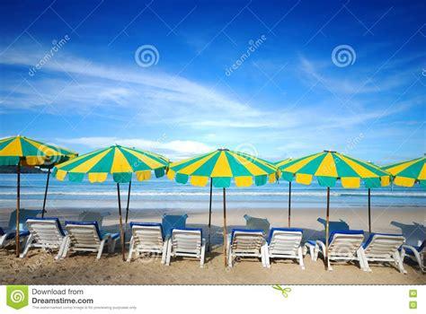 beach furniture stock image image  umbrella holiday