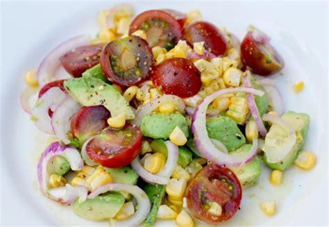 easy salad recipes easy salad recipes heirloom tomato corn and avocado