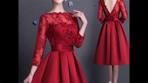 youtu vestidos vestidos rojo super lindos youtube