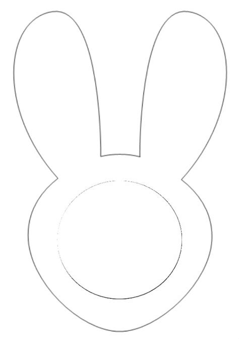 best photos of bunny face template printable easter