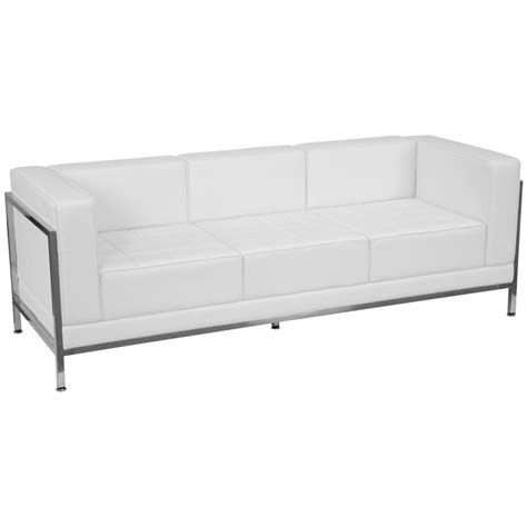 Modern White Sofa Modern White Sofa Modern White Or Latte Leather Sectional Sofa Set 44l6064 Thesofa