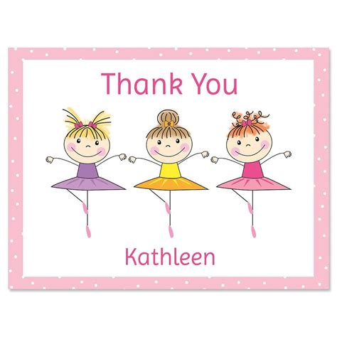 Thank You Note With Gift Card - tiny dancer personalized thank you note cards current catalog