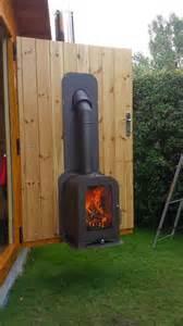 Garden Log Burner Vesta Stoves Manufactured Contemporary Wood Burning
