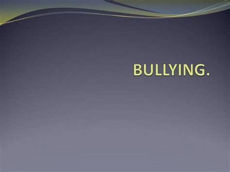 templates powerpoint bullying bullying authorstream