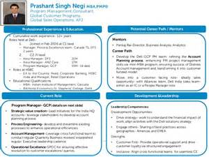 talent profile template talent profile fy16 prashant