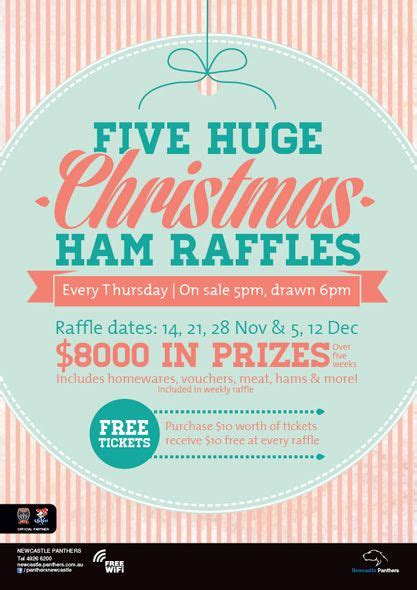 christmas raffle themes newcastle panthers christmas raffles poster poster