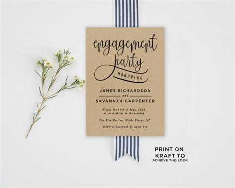 invitation engagement party invitation template 2581199