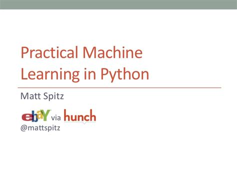 learning for beginners practical guide with python and tensorflow data sciences books practical machine learning in python