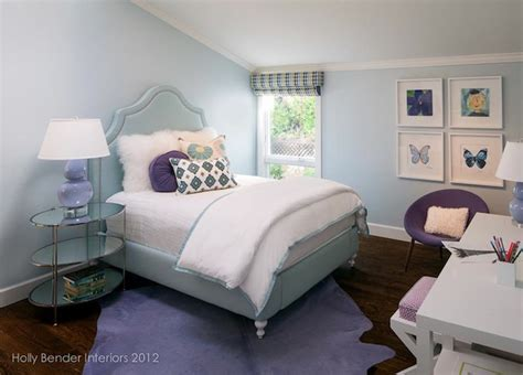 purple and blue bedroom purple table l contemporary girl s room alisha gwen