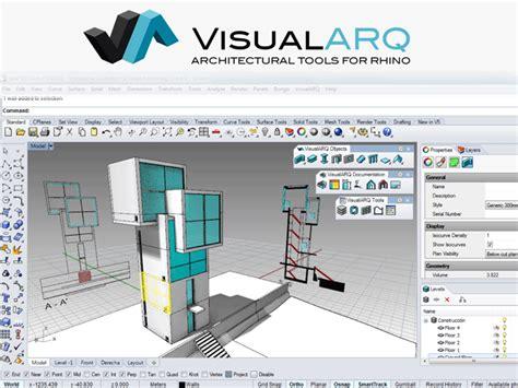 Rhinoceros Software 3d Modeling 1 visualarq for rhinoceros 4 v1 0
