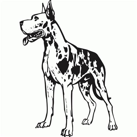 Great Dane Coloring Pages great dane coloring pages az coloring pages
