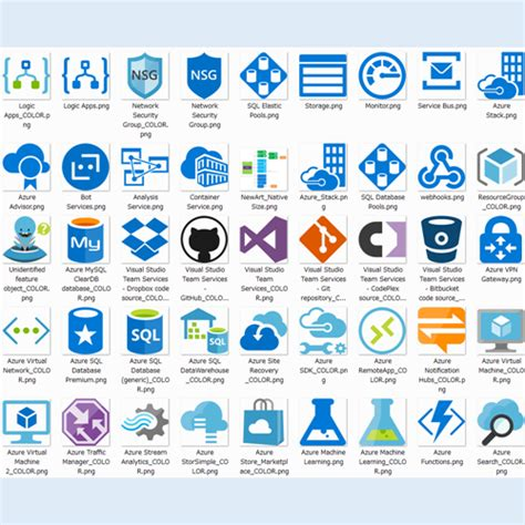 microsoft cloud and enterprise symbol icon set microsoft azure cloud and enterprise symbol icon set v2