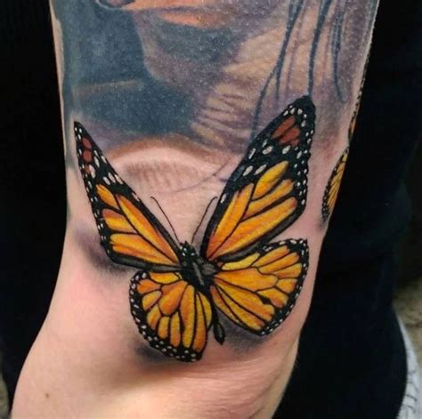 yellow butterfly tattoo 4 butterfly tattoos ideas