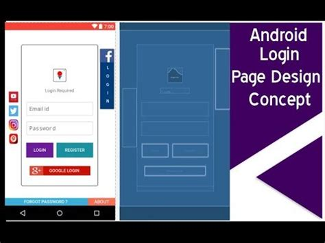 login layout design android ui design 1 responsive login page layout design