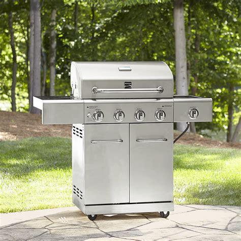 kenmore  burner gas stainless steel grill  searing