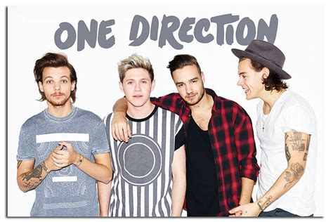 1d Poster 4 one direction without zayn landscape poster new maxi