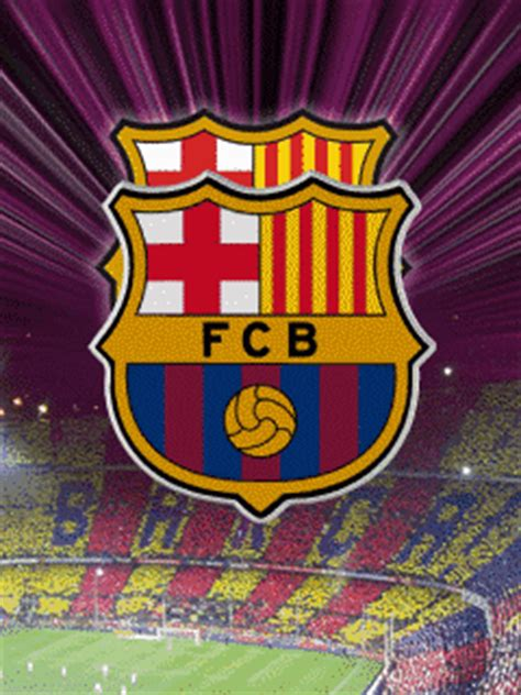 wallpaper barcelona animasi bergerak animasi bergerak sepakbola 6 logo fc barcelona