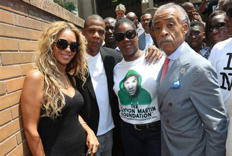 Beyonce Solange And Al Sharpton by Z And Beyonce Attend Rally For Trayvon Martin