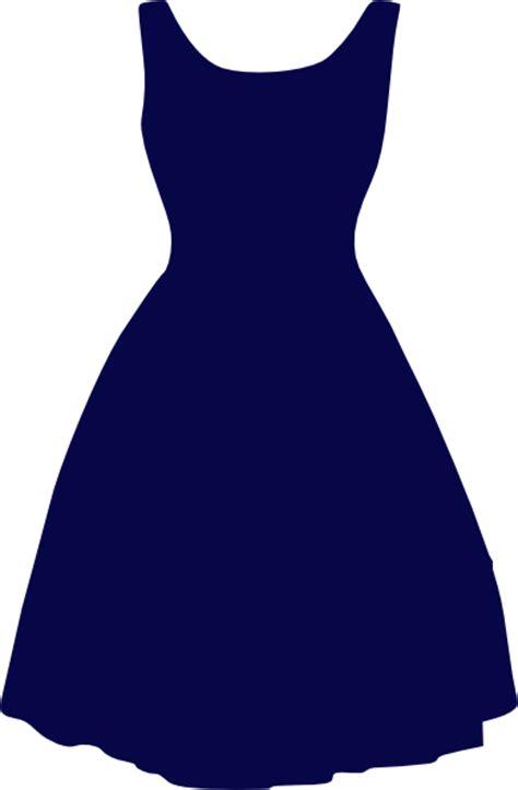 blue dress clip at clker vector clip