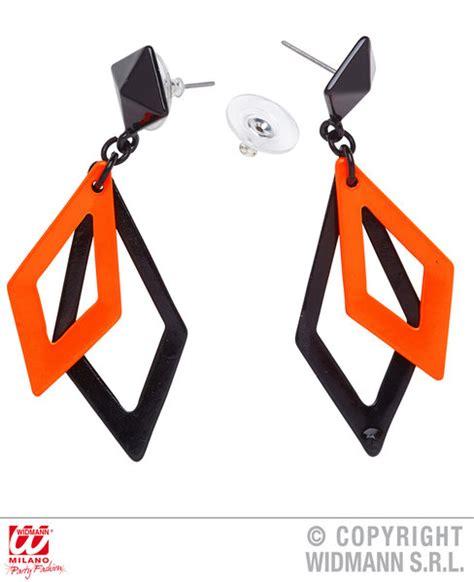 80 S Accessories 1980 S by 80 S Earrings Neon Rhombus World