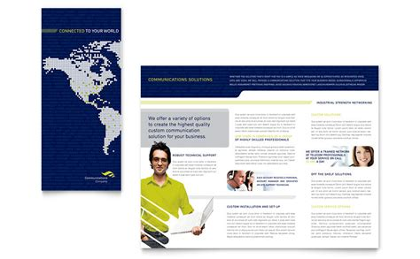 company brochure templates global communications company brochure template word
