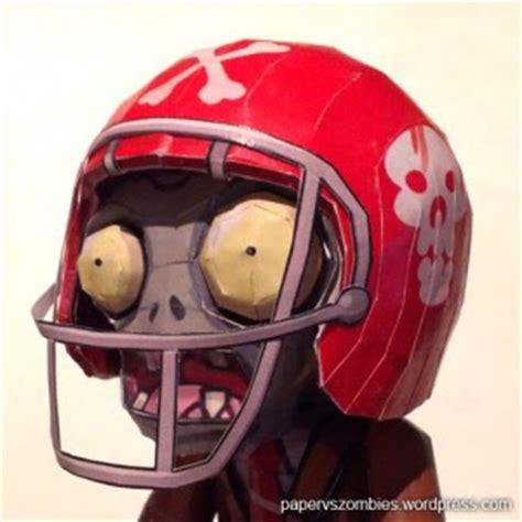 Papercraft Helmets - plants vs football helmet papercraft papercraft