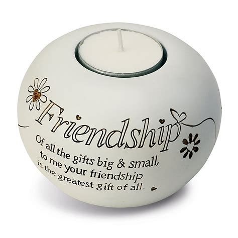 Said With Sentiment Friendship Tea Light Candle Holder   H