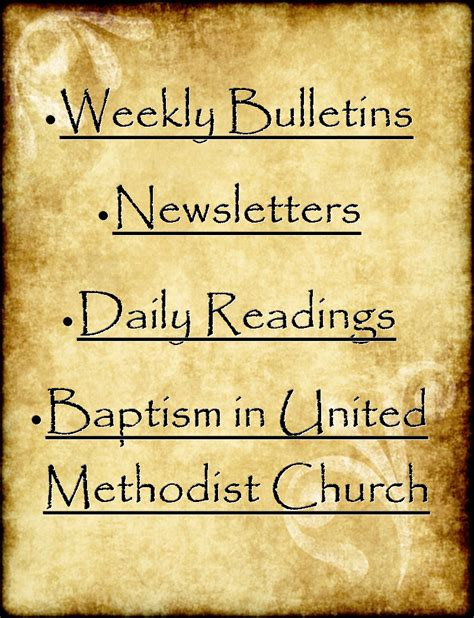 First United Methodist Church Of Covington Tn United Methodist Church Bulletin Template