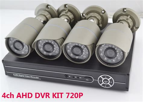 1 Set Cctv Outdoor aliexpress buy new ahd dvr kit 4ch 720p hd cctv