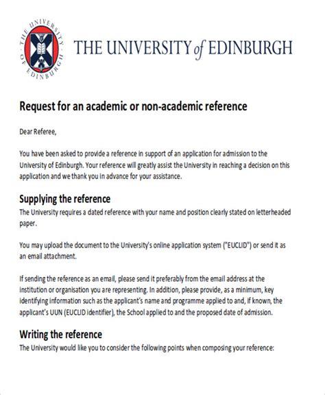 Reference Letter For Uk Admission