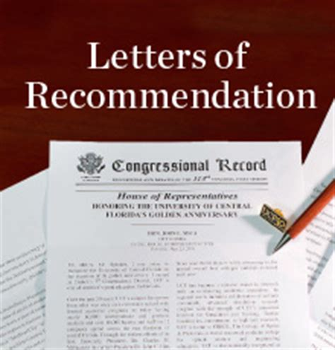 Letter Of Recommendation Ucf congressmen congratulate ucf on 50th anniversary