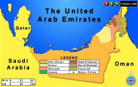 uae countries map map of the united arab emirates israa mi raj net