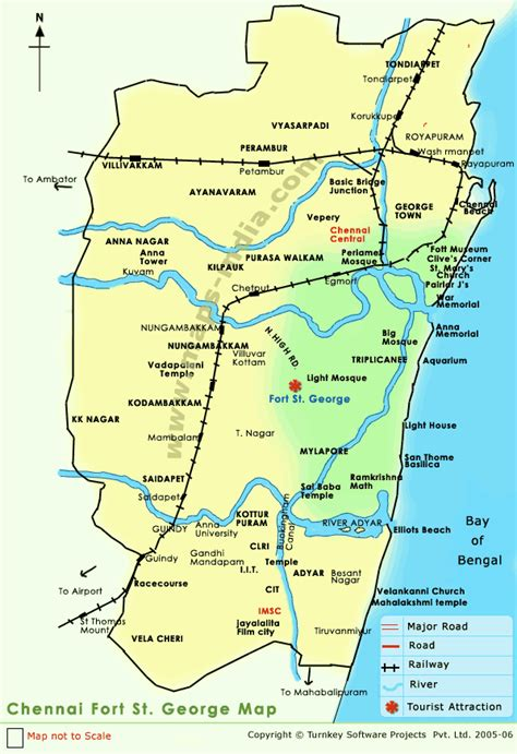 where is fort located in map fort st george st george fort fort st george chennai st