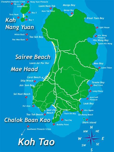 mikes resort dive map koh tao hotel resort koh tao