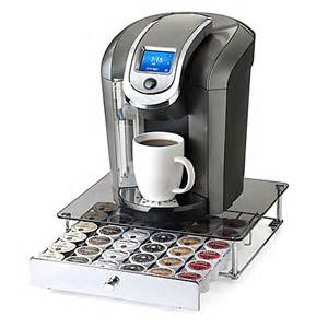 nifty keurig 174 k cup 174 36 capacity glass top rolling drawer