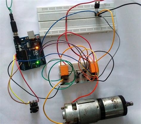 arduino dc motor speed  direction control  relays  mosfet