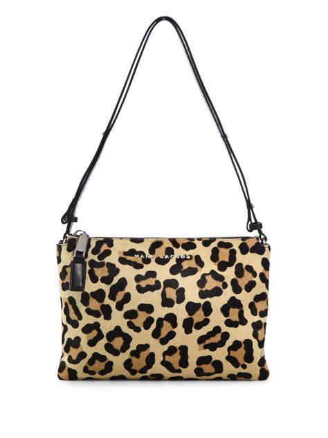 Animal Print Crossbody Bag marc pouch leopard print calf hair crossbody