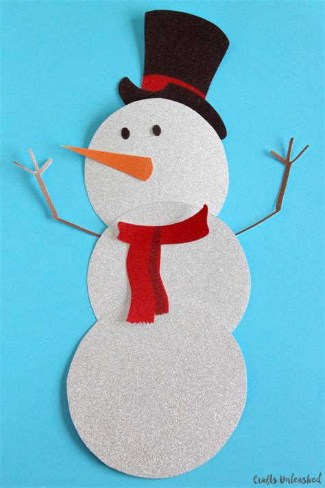 snowman template  printable crafts unleashed
